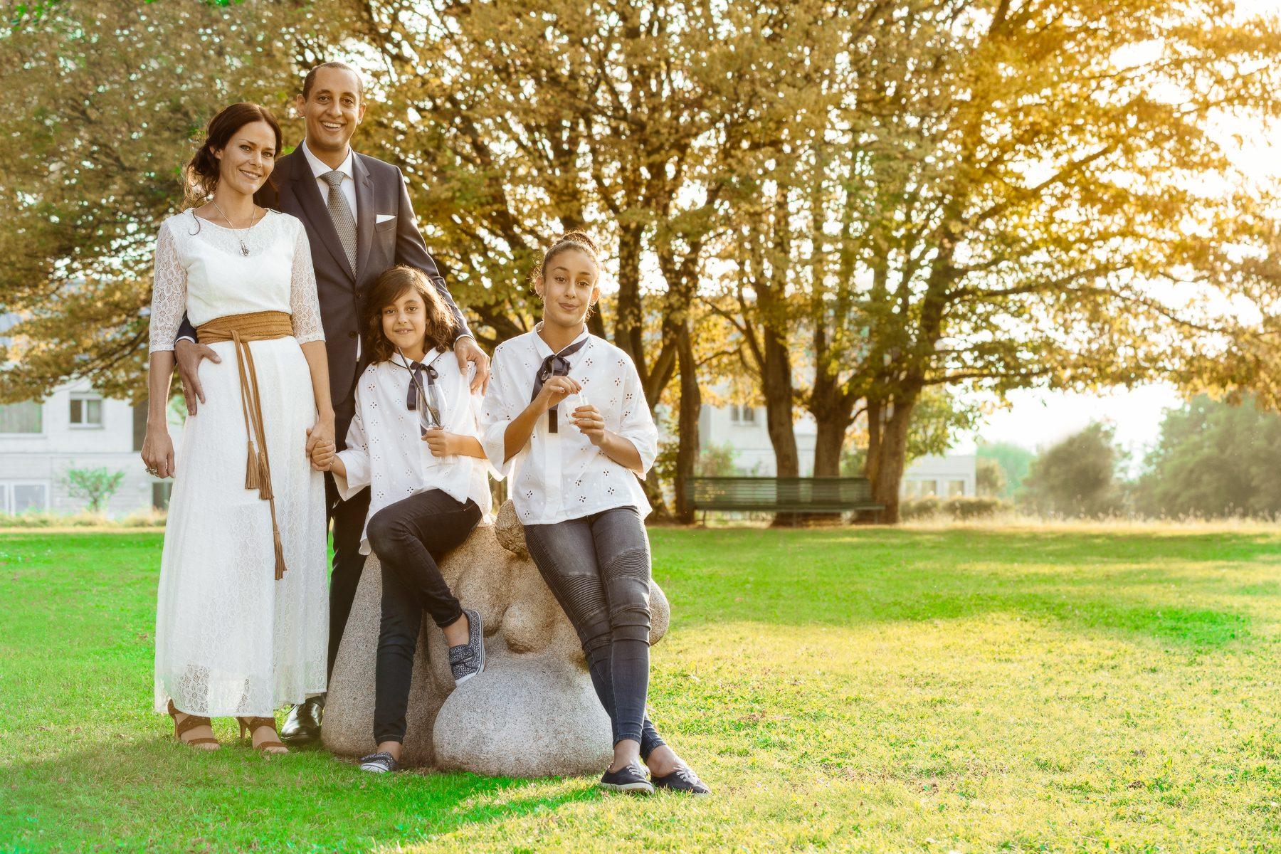 Portrait de la famille Mesfin, le jour de mariage des parents.
