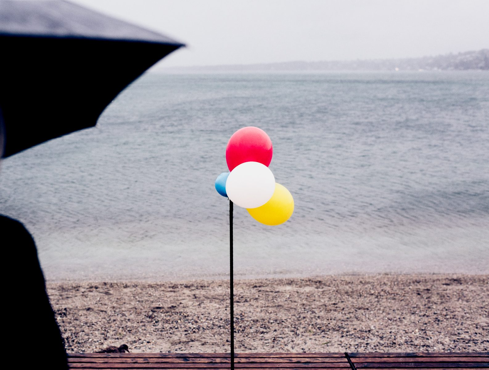 Ballons and umbrella