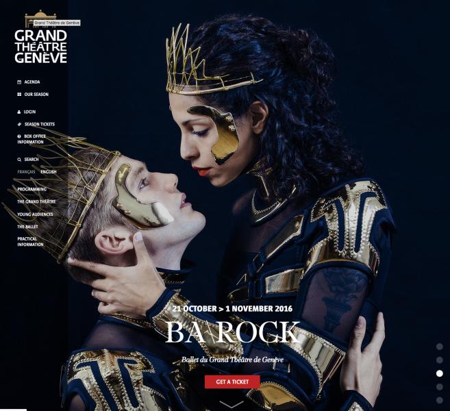 Une de mes images utilisée pour la communication du ballet Ba\rock à l'Opéra des Nations.