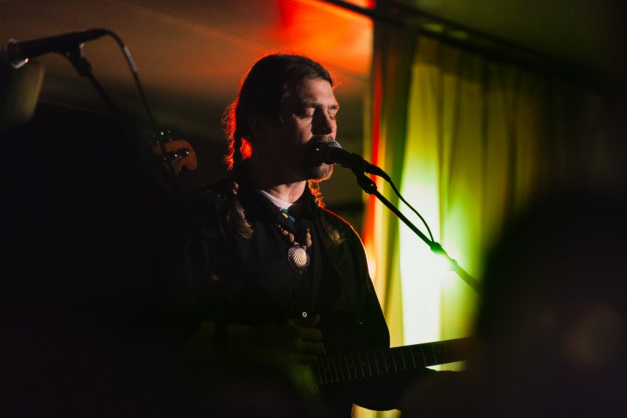 Karl Blau à Webster University, Bellevue, pour le Festival Antigel, le 5 février 2017.
