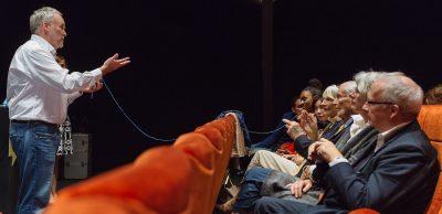 John Zinsser talks about compassion at Creative Mornings Geneva