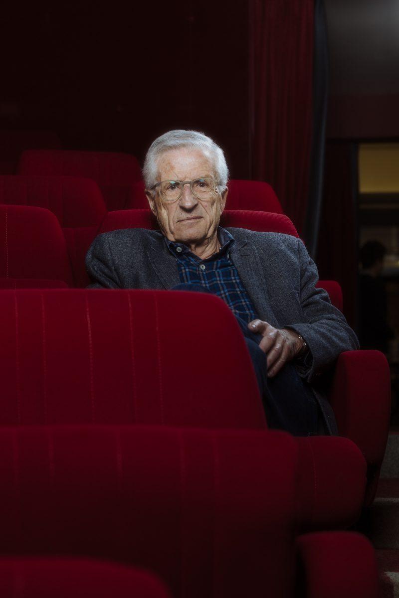 Rolf Lyssy était à la Cinémathèque suisse pour présenter son nouveau film «Une dernière touche». Cinéma Capitole, Lausanne, 12 avril 2018.